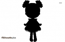 Cute Cartoon Doll Silhouette Illustration