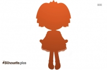 Cute Cartoon Doll Silhouette Vector And Graphics
