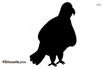 Crane Bird With Baby Silhouette Drawing