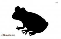 Cartoon Frog Hopping Silhouette