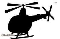 Cute Cartoon Helicoptor Silhouette Clip Art