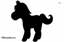 Cute Cartoon Horse Silhouette Image And Vector