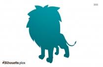 Cute Cartoon Lion Silhouette Background