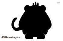 Small Pig Cartoon Silhouette Image