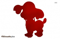 Cartoon Dog Silhouette Art