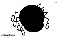 Cute Cartoon Spider Silhouette