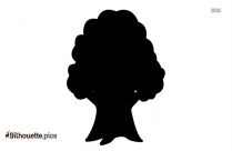 Black Simple Tree Drawing Silhouette Image