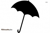 Cute Cartoon Umbrella Silhouette Illustration