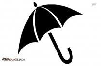 Beach Umbrella Symbol Silhouette Vector
