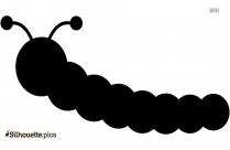 Cute Caterpillar Cartoon Animals Silhouette