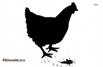 Cute Chicken Silhouette