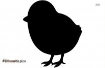 Cute Chicks Silhouette Icon