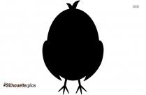 Cute Chicks Silhouette Clip Art