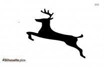 Santa Deer Silhouette Image