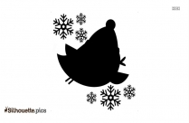 Cute Christmas Silhouette Drawing