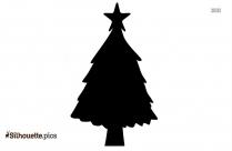 Cute Christmas Tree Silhouette