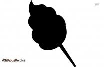 Cotton Candy Cone Silhouette
