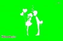 Cute Couple Love Silhouette
