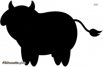 Cartoon Cow Logo Silhouette For Download Vector