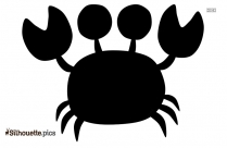 Cartoon Crab Silhouette Free Vector Art