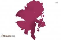 Cupid Boy Silhouette Free Vector Art