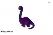 Cartoon Dinosaur Silhouette Clip Art