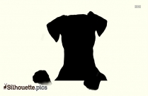 Dog Sitting PNG Silhouette Image