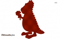Cute Dragon With Flower Silhouette
