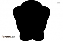 Indian Elephant Trunk Up Silhouette Image