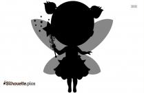 Vintage Fairy Clipart Silhouette