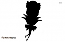 Fairy Moon Dress Silhouette Art