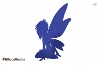 Butterfly Fairy Silhouette Art