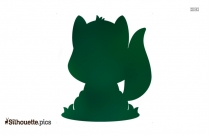 Cute Fall Fox Silhouette Image And Vector