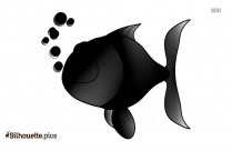 Cute Fish Silhouette Image