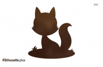 Cute Fox Silhouette Vector And Graphics