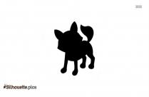 Fall Fox Cartoon Silhouette