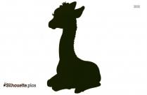 Cute Giraffe Girl Silhouette Image And Vector