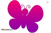Angel Butterfly Silhouette