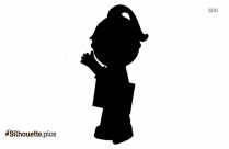 Cute Girl Walking Clipart Silhouette
