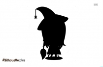 Witch Clipart Silhouette Image