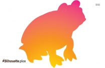 Cute Hopping Frog Clipart