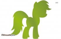 Cute Horse Illustration Silhouette Image
