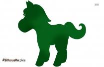 Cartoon Running Horse Silhouette