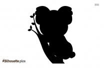 Cute Koala On Tree Branch Silhouette