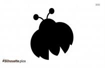 Cute Ladybug Silhouette Image