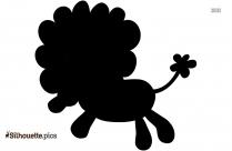 Cute Lion Cartoon Silhouette Picture