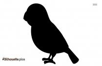 Cute Little Bird Silhouette Icon
