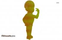 Small Boy Gymnast Silhouette