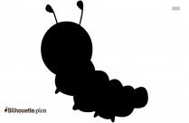 Cute Little Caterpillar Silhouette Image