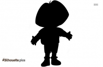 Dora Vector PNG Silhouette